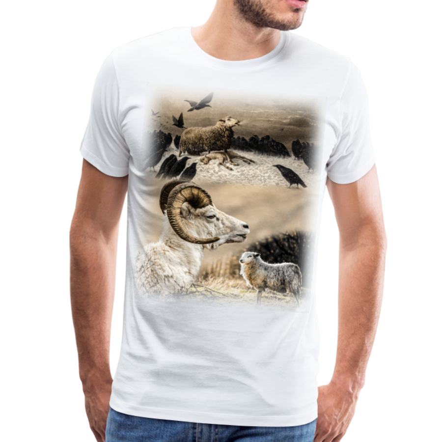 Sheep Avenger Men's Premium T-Shirt - white