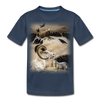 Sheep Avenger Kid's Premium Organic T-Shirt - navy