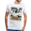 Heaven Cows Men's Premium T-Shirt - white