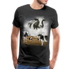 Heaven Cows Men's Premium T-Shirt - black