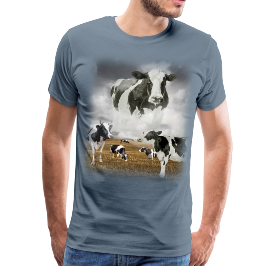 Heaven Cows Men's Premium T-Shirt - steel blue