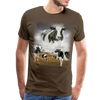 Heaven Cows Men's Premium T-Shirt - noble brown