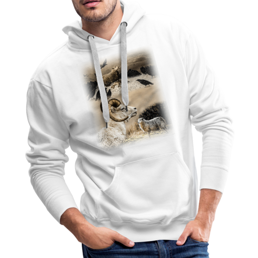 Sheep Avenger Men's Premium Hoodie - white