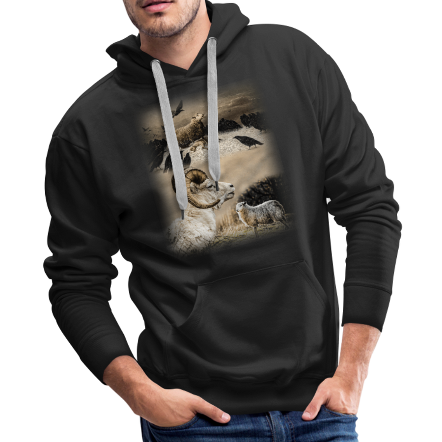 Sheep Avenger Men's Premium Hoodie - black