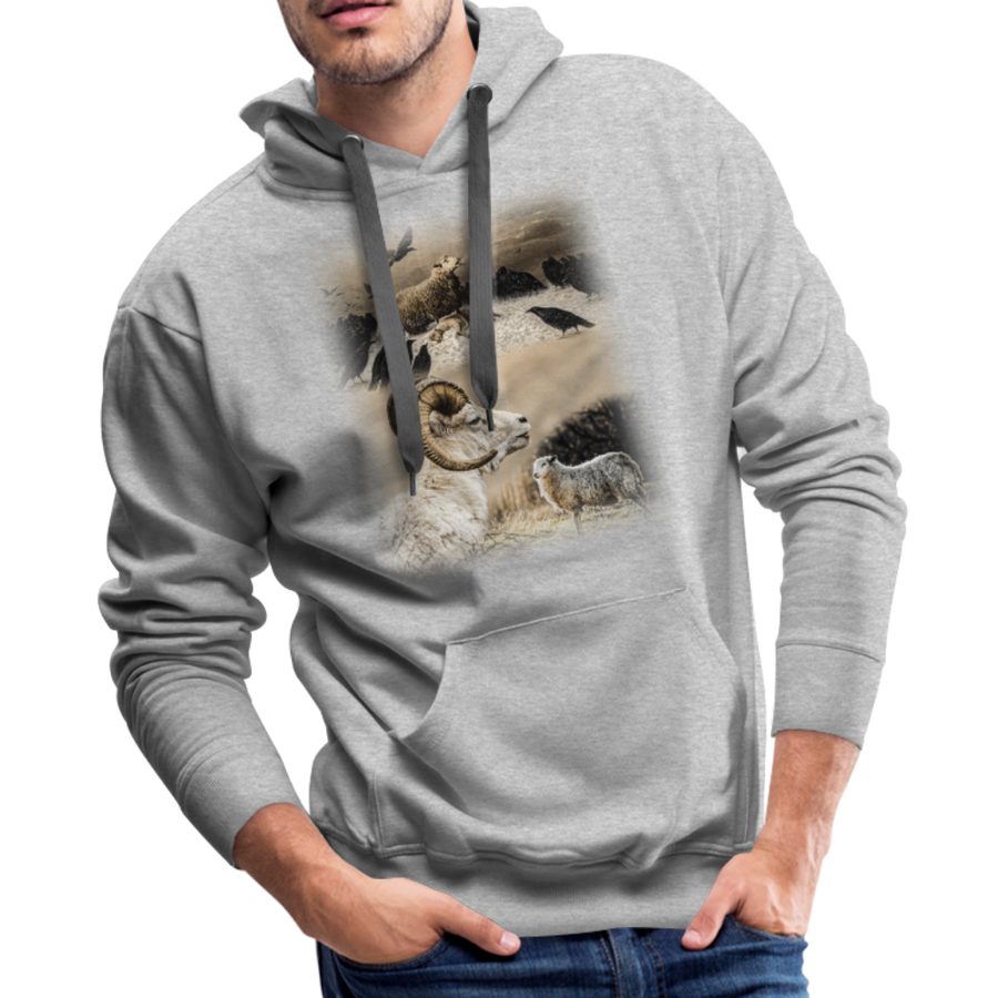 Sheep Avenger Men's Premium Hoodie - heather gray