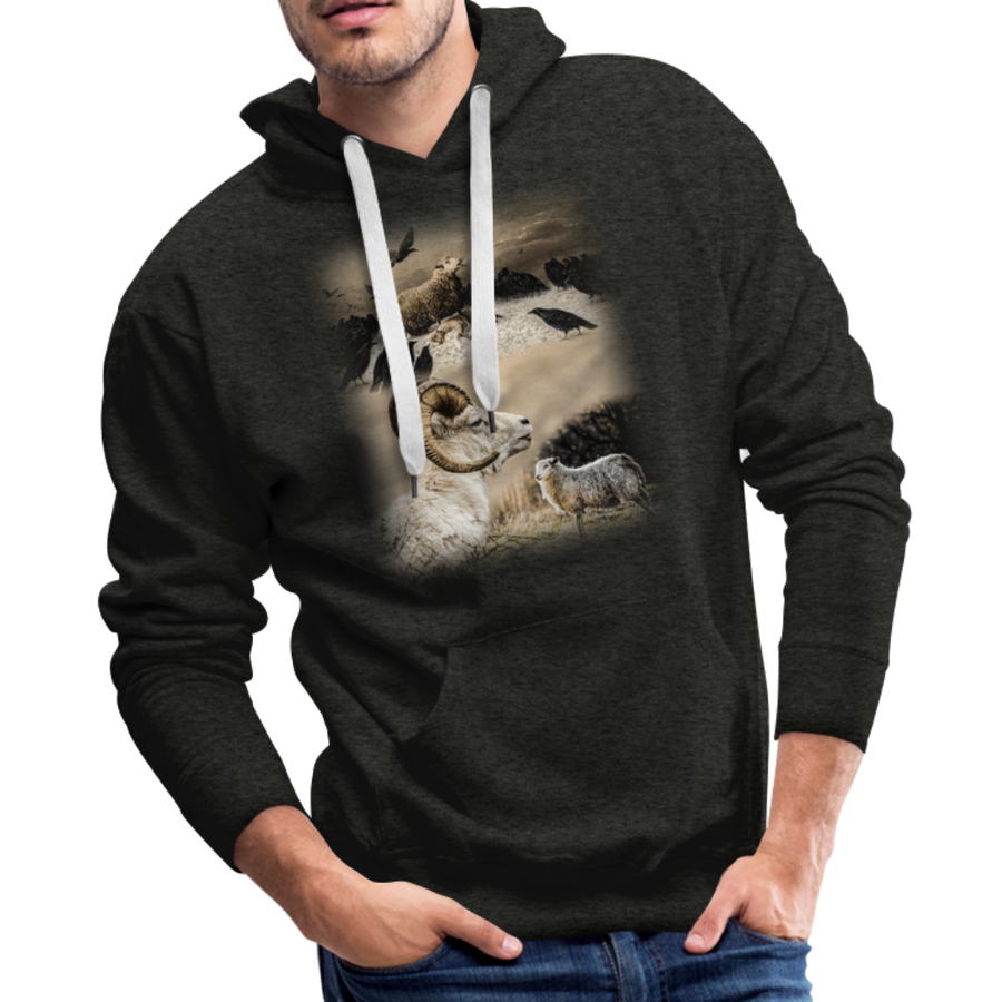 Sheep Avenger Men's Premium Hoodie - charcoal gray