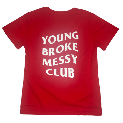 """Messy Club"" shirt in WildFire"