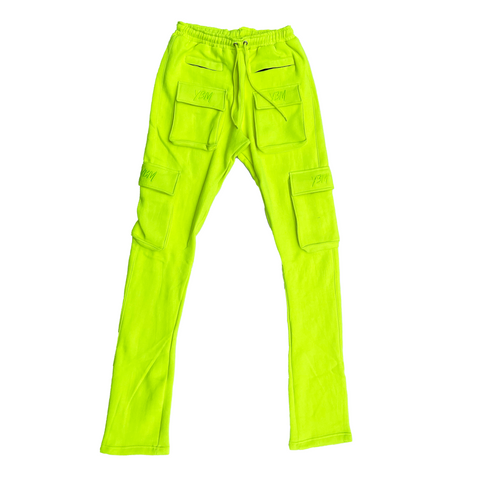 """Gemini"" Stacked joggers in Electricity"