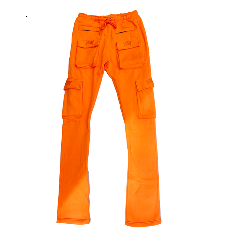 """Gemini"" Stacked joggers in Hazmat"