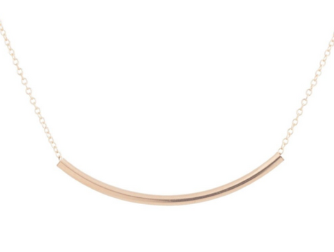 Necklace |  Bliss Bar Gold