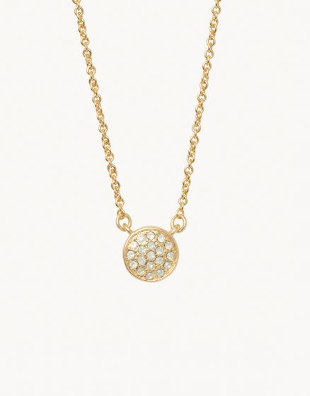 Sea La Vie Necklace | Stronger/Pave Disk Gold