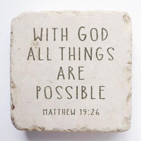 Small Scripture Stone | Matthew 19:26