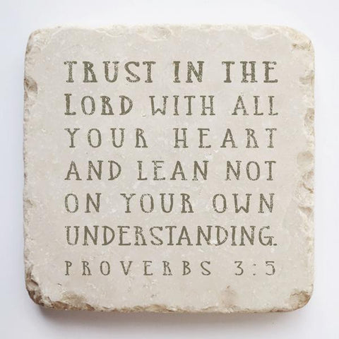 Large Scripture Stone | Proverbs 3:5