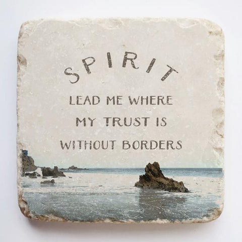 Large Scripture Stone | Spirit Lead Me