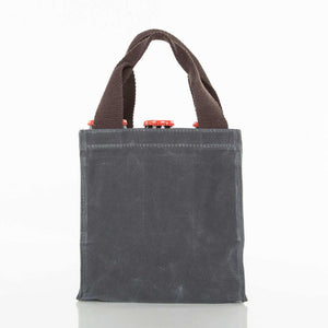 Waxed Canvas 6-pack Beer Bottle Carrier Slate