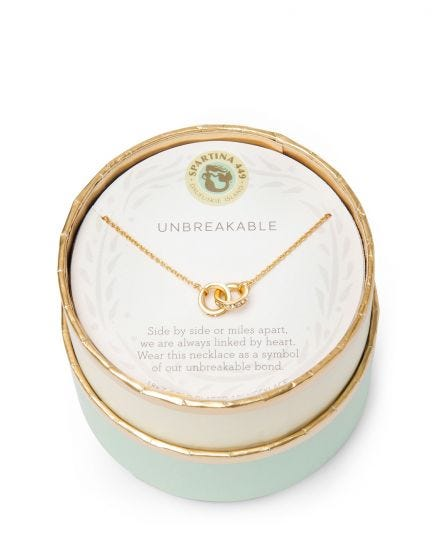 Sea La Vie Necklace | Unbreakable/Double Rings Gold