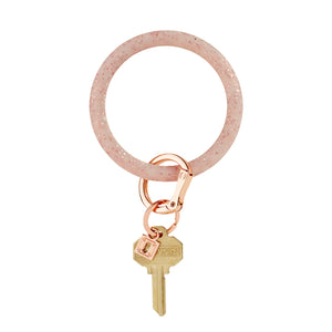 Silicone O-Ring | Rose Gold Confetti