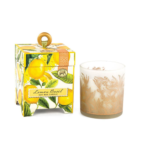 6.5oz Soy Wax Candle | Lemon Basil