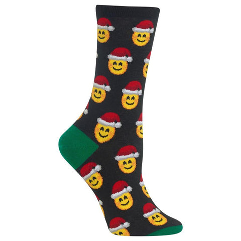 Womens Socks | Santa Emoji