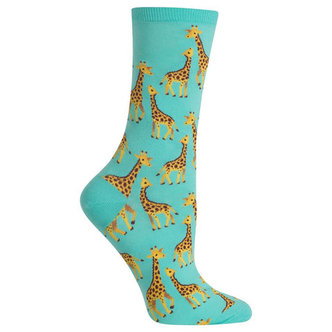 Womens Socks | Giraffe Mint