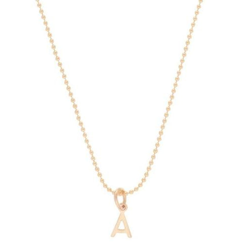 "Necklace | 16"" Necklace Gold - Respect Gold Charm"