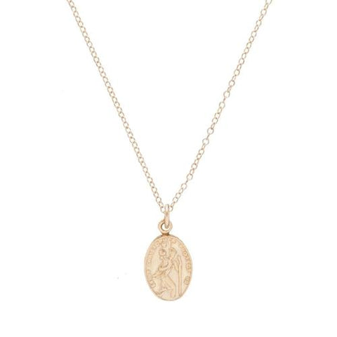 "Necklace | 16"" Necklace Gold - Protection Small Gold Charm"