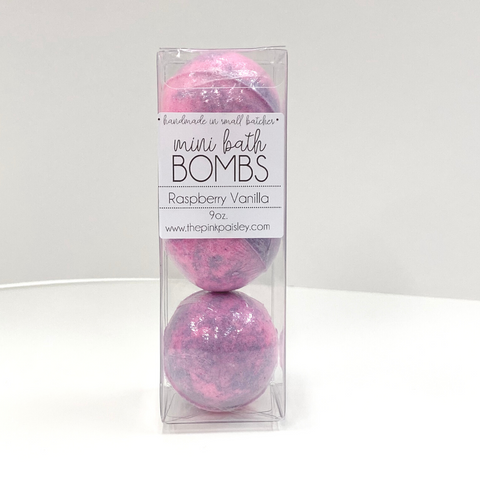 Mini Bath Bomb 3 Pack | Raspberry Vanilla