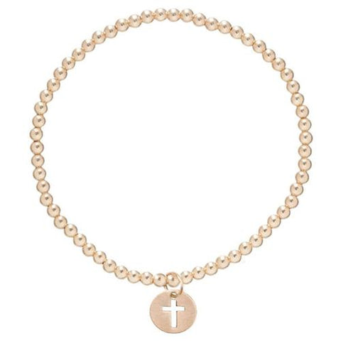 Bracelet | Classic Gold 3mm Bead with Blessed Charm