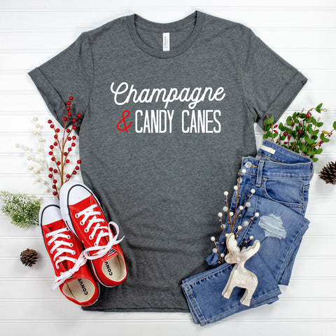 Champagne & Candy Canes Graphic Tee