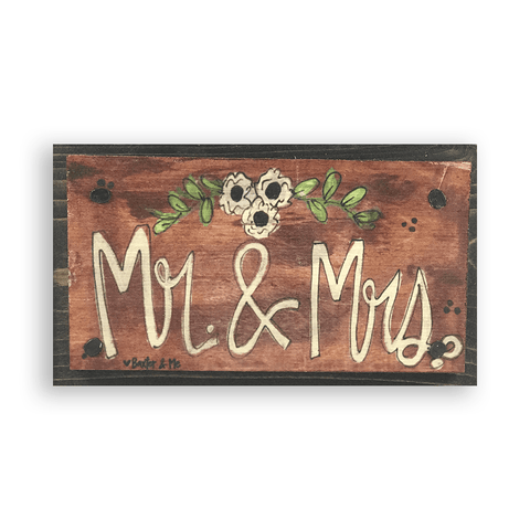 Mr & Mrs | Happy Block
