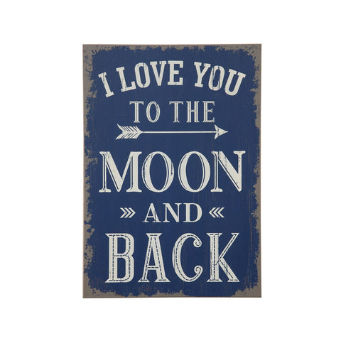Love You Moon Wall Decor