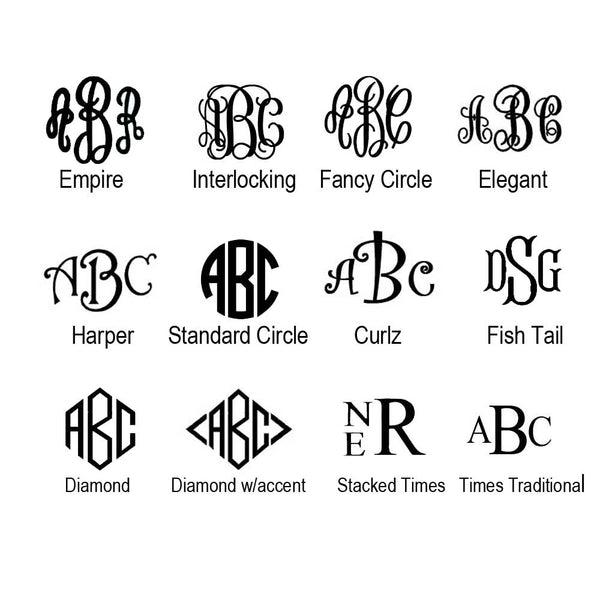 Monogram Font Choices