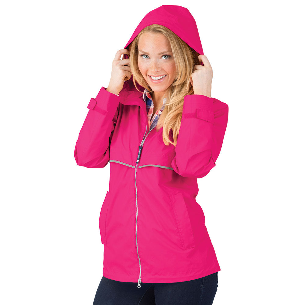 Charles River New Englander Rain Jacket | Hot Pink