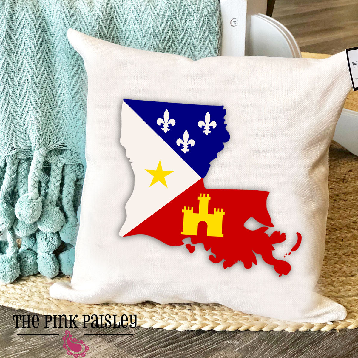 Acadiana Flag Pillow
