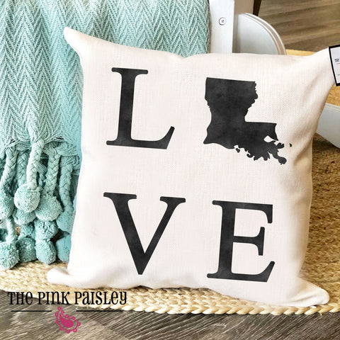 Louisiana Love Home Decor Pillow