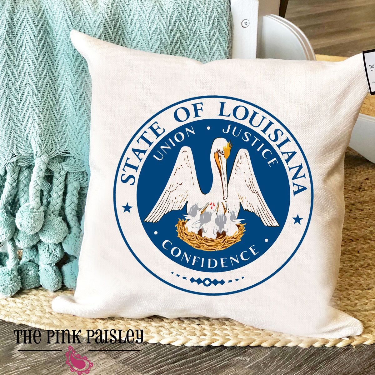 Louisiana State Seal Pillow