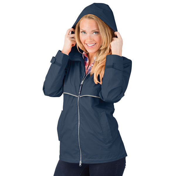 Charles River New Englander Rain Jacket | Navy Blue