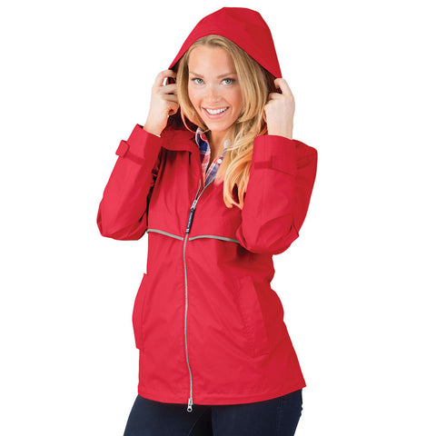 Charles River New Englander Rain Jacket | Red