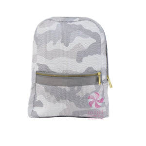 Small  Backpack | Snow Camo Seersucker
