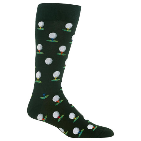 Mens Crew Socks | Golf Ball & Tees
