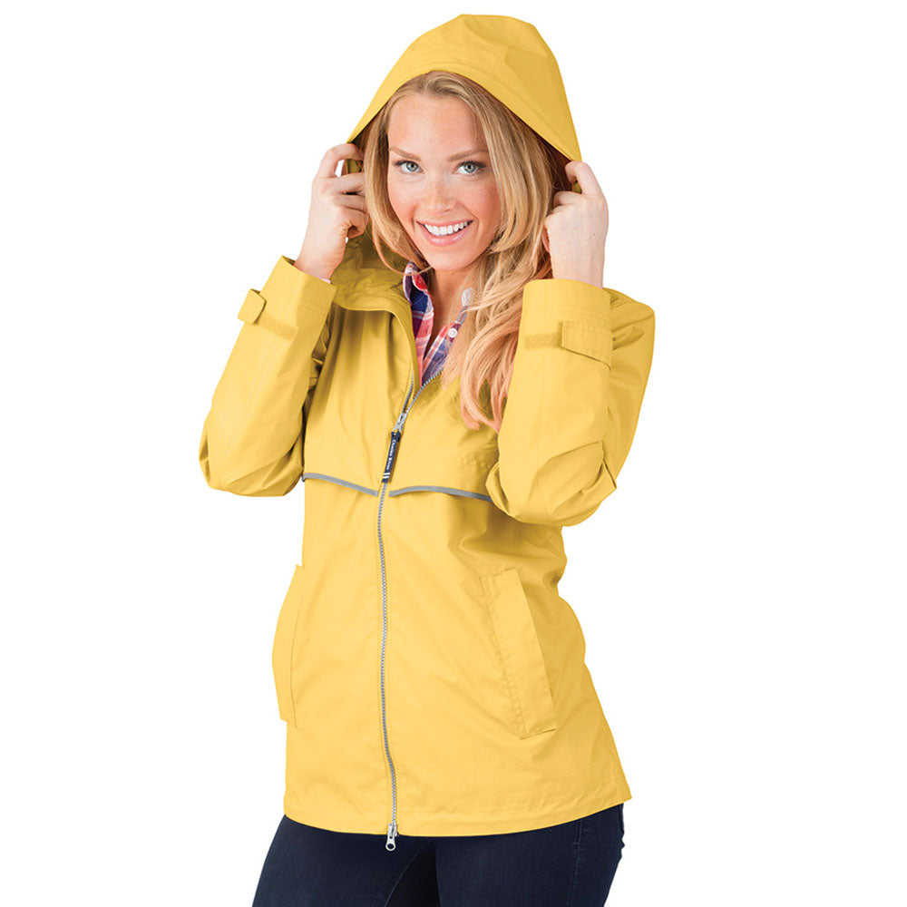 Charles River New Englander Rain Jacket | Yellow
