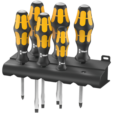 WERA Screwdriver set Kraftform: Chiseldriver and rack