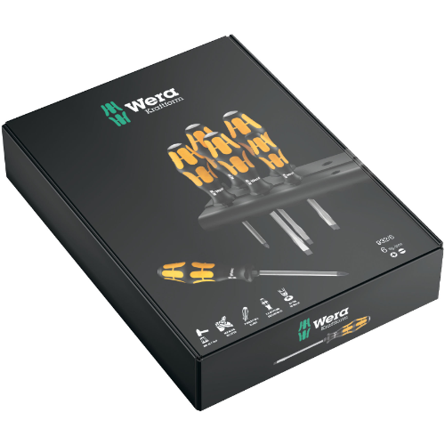 WERA ORANGE 6 PCE SCREWDRIVER SET