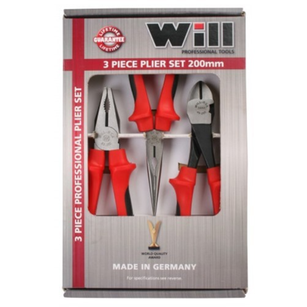 Will 3 Piece Plier set 200mm DT