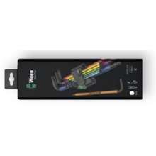 Load image into Gallery viewer, WERA Hex-Plus Multicolour L-key set, metric, BlackLaser, 9 Piece