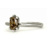 Oval Claw Diamond Ring