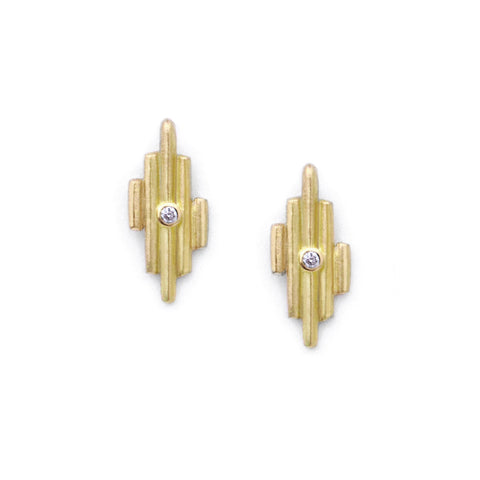 Gold Light Post Earrings