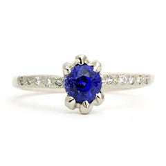 Claw Set Royal Sapphire Ring