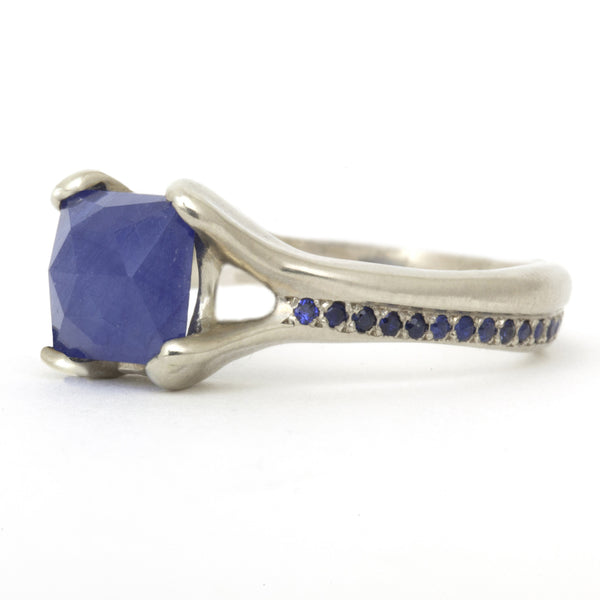 Square Rosecut Sapphire Ring