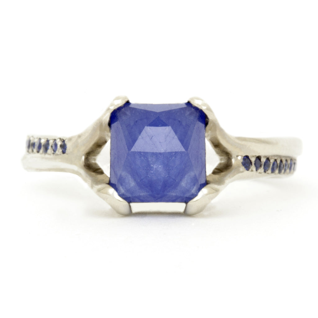 rose square rosecut haru cut ring products jewelry sapphire sakura